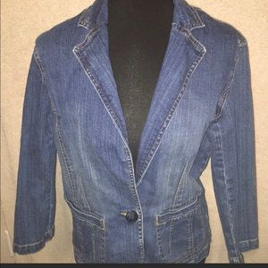 Denim Jacket 3/4 sleeve Blazer